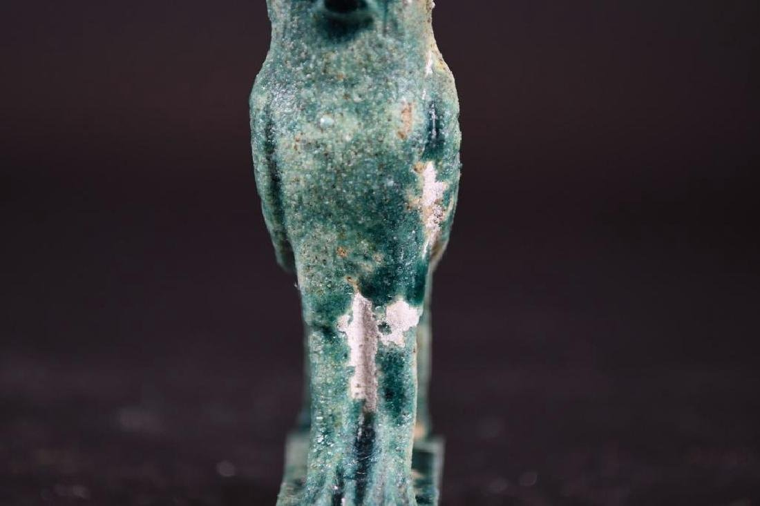 Small Ancient Egyptian Faience Statue - 7