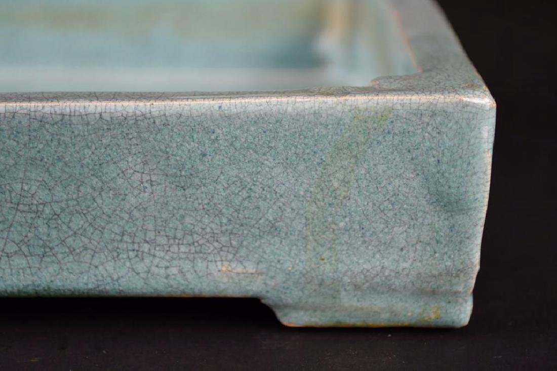 Chinese Pale Blue Crackle Glaze Porcelain Tray - 5