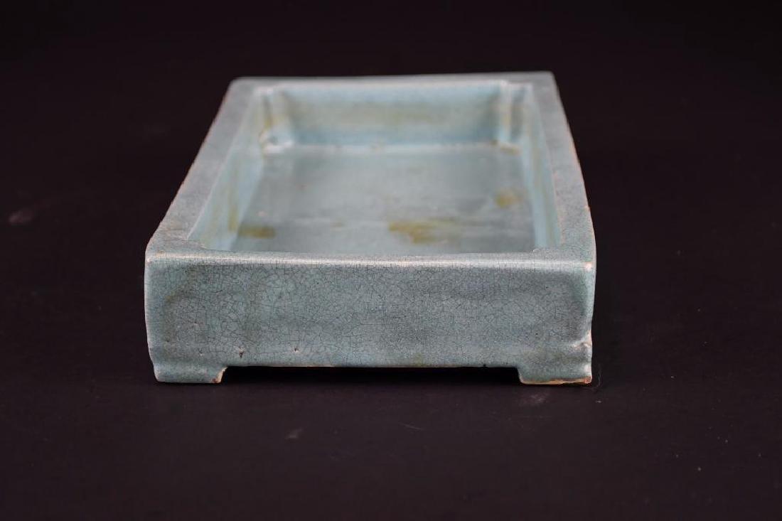 Chinese Pale Blue Crackle Glaze Porcelain Tray - 7