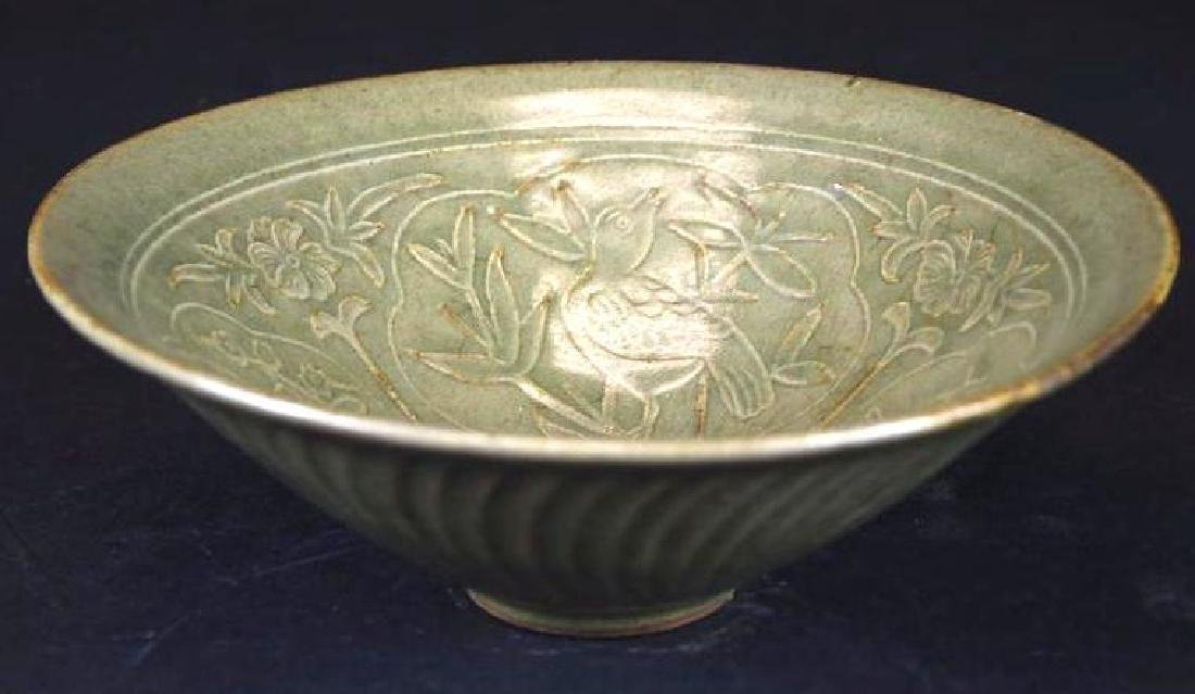Chinese Tea Dust Glaze Footed Bowl