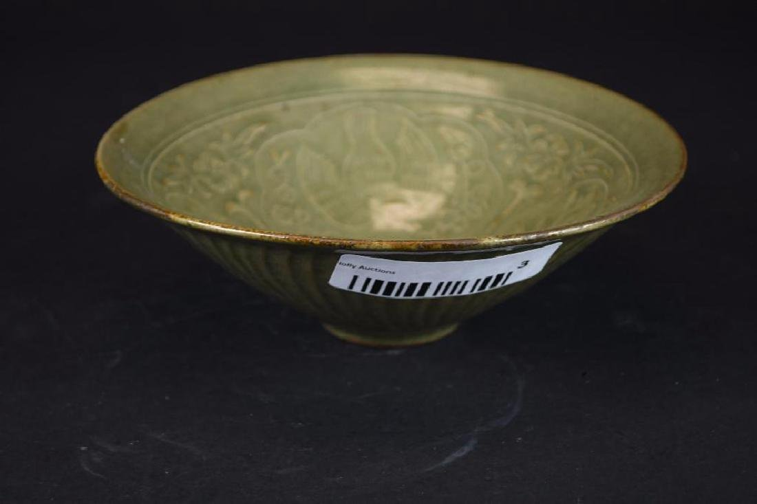 Chinese Tea Dust Glaze Footed Bowl - 3