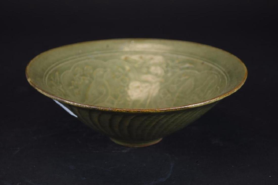 Chinese Tea Dust Glaze Footed Bowl - 4
