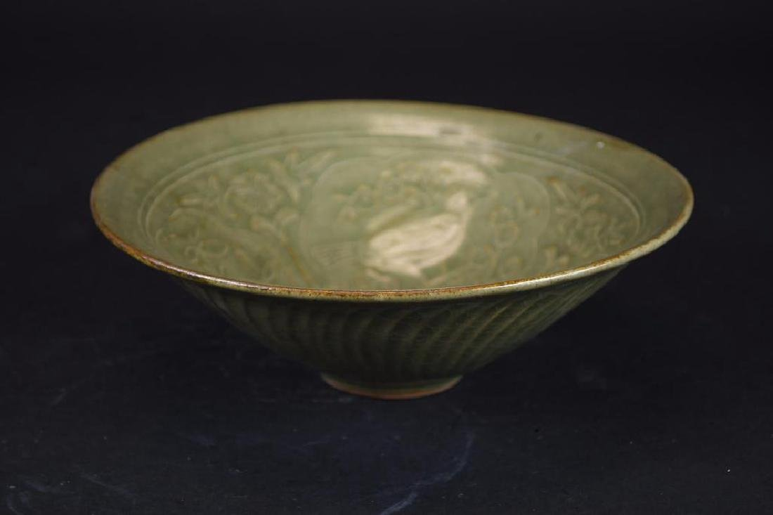 Chinese Tea Dust Glaze Footed Bowl - 5