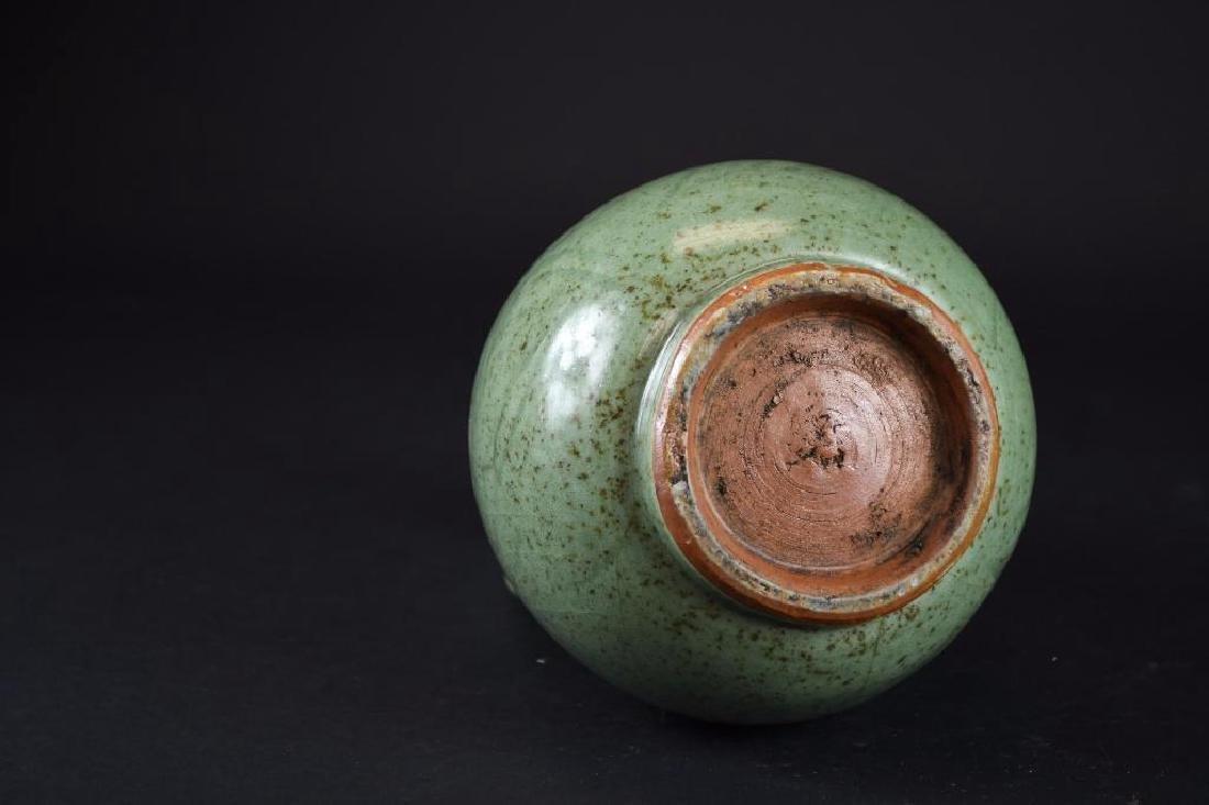Chinese Celadon Glaze Footed Vase - 7