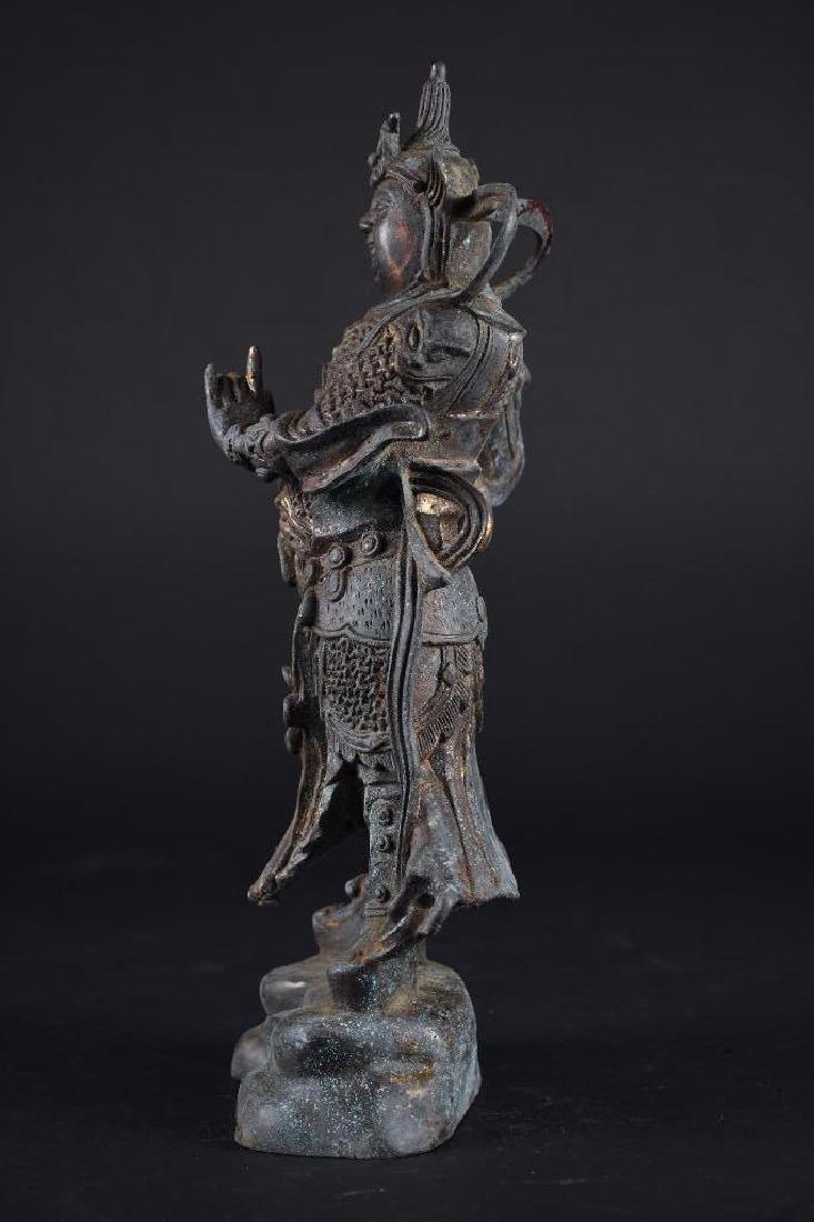 Chinese Bronze Standing Warrior - 2