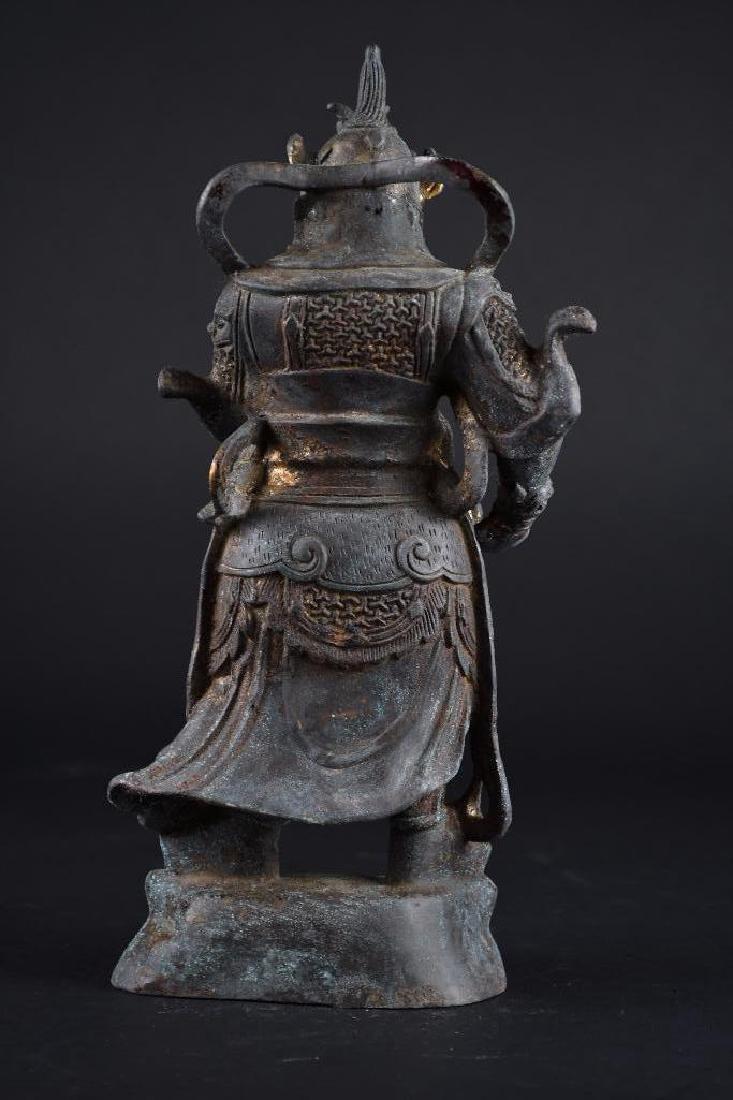 Chinese Bronze Standing Warrior - 3