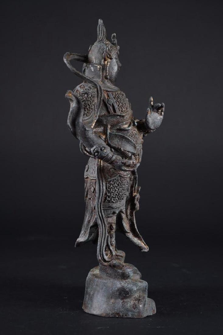 Chinese Bronze Standing Warrior - 4