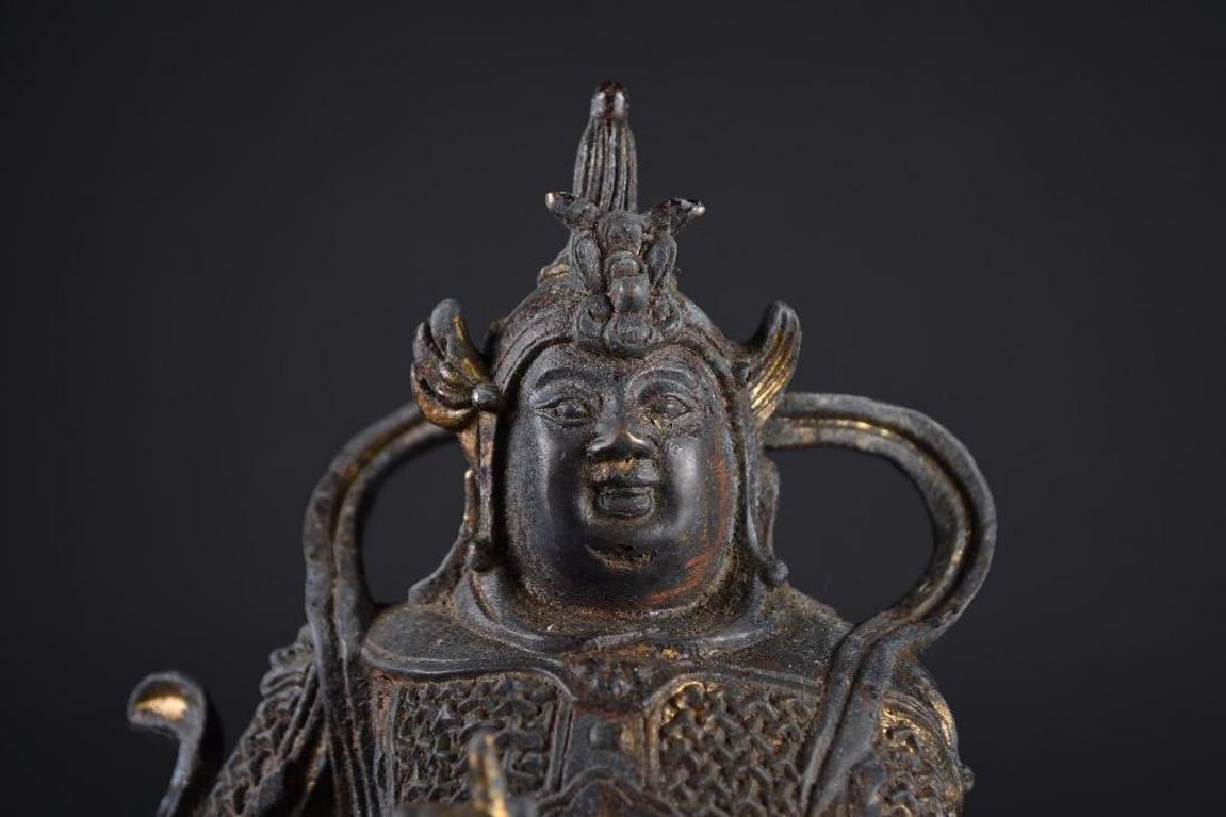 Chinese Bronze Standing Warrior - 5