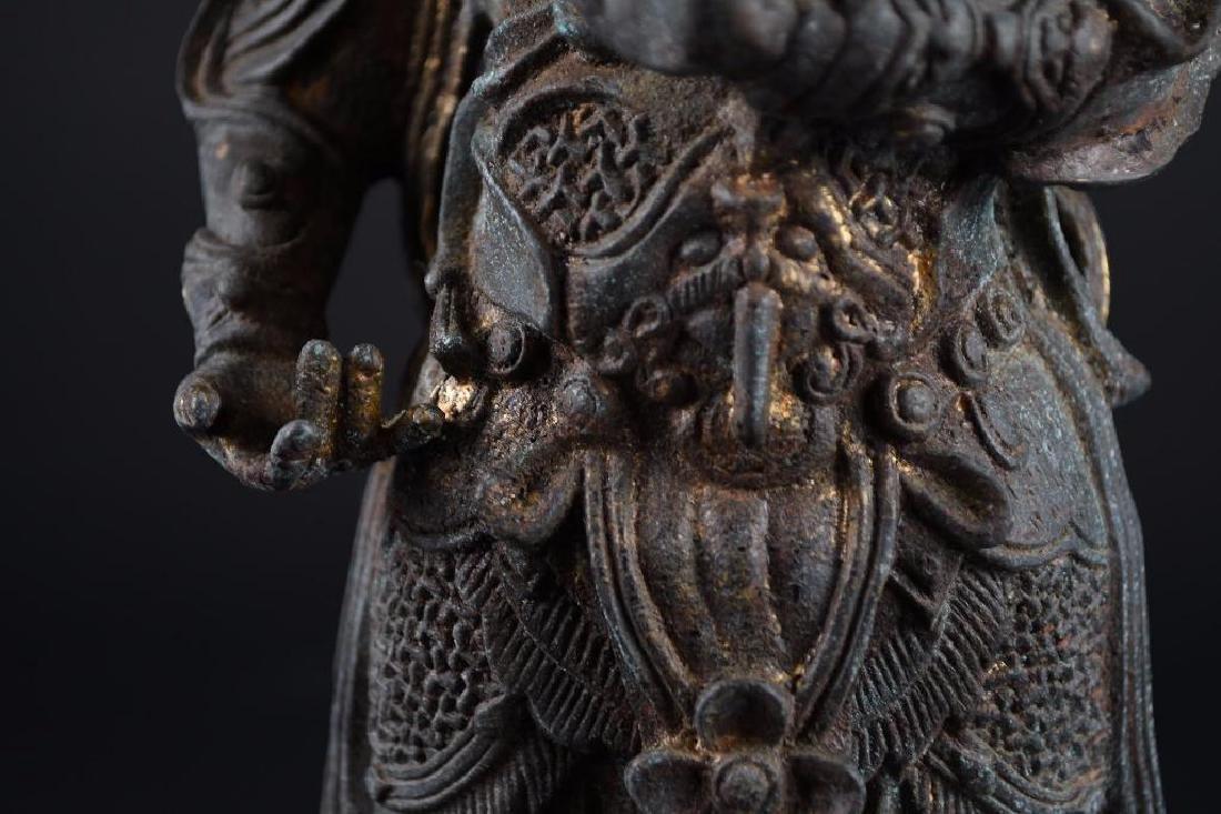 Chinese Bronze Standing Warrior - 8