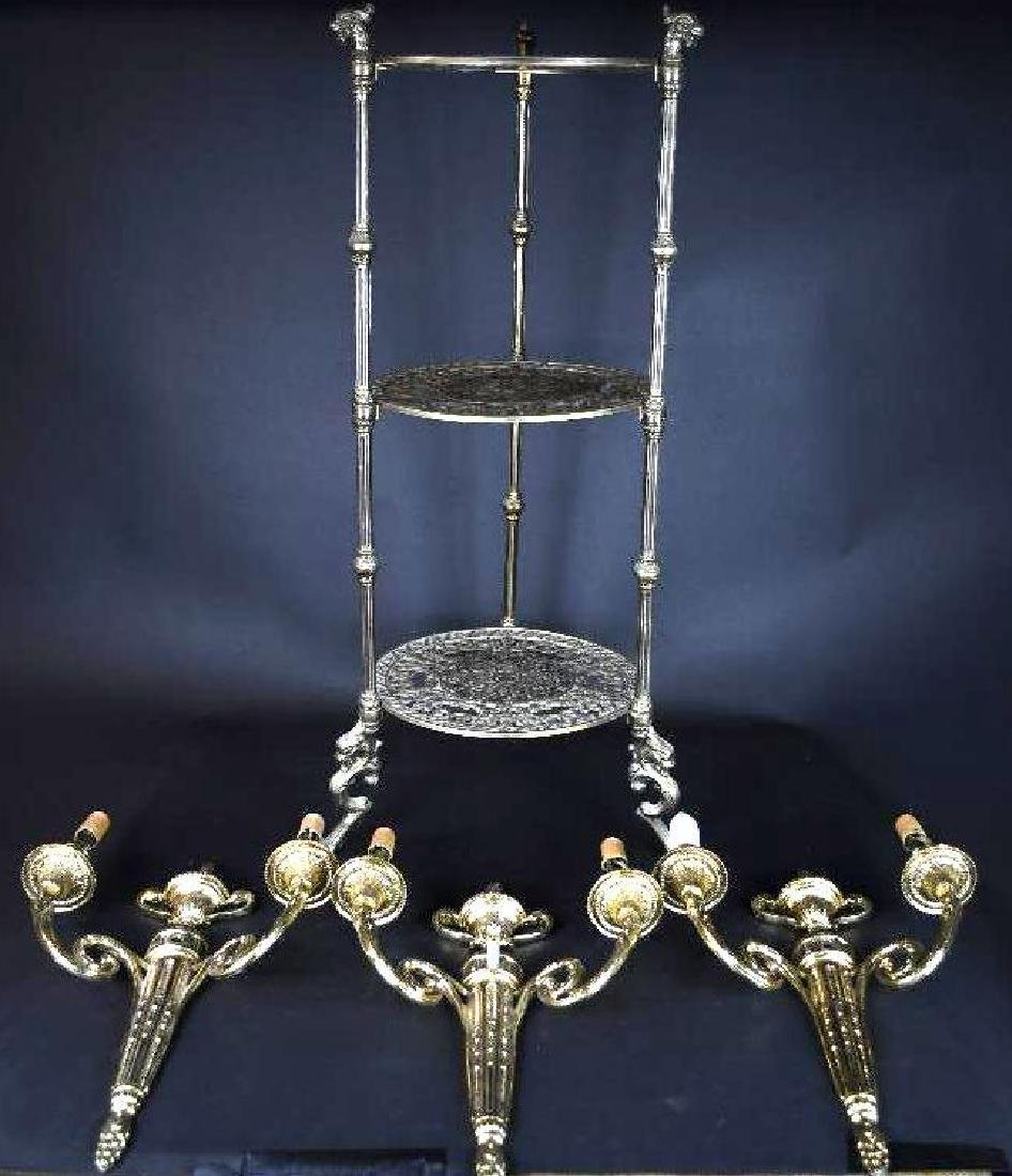 Group of  Candelabra  & Stand