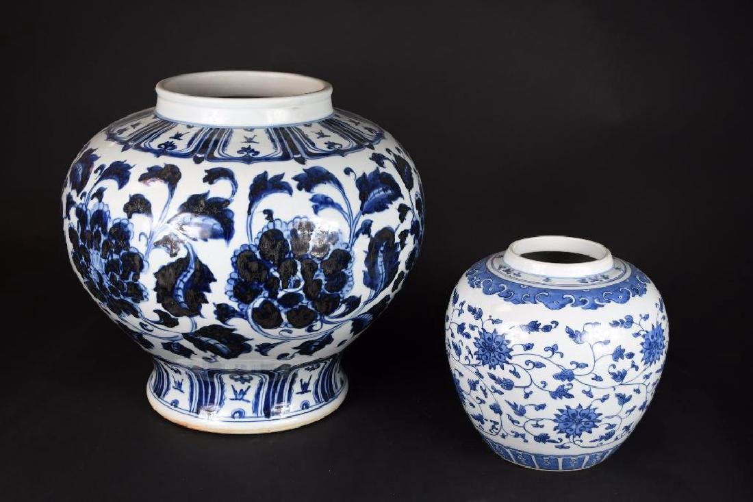 Two Chinese Blue & White Vases