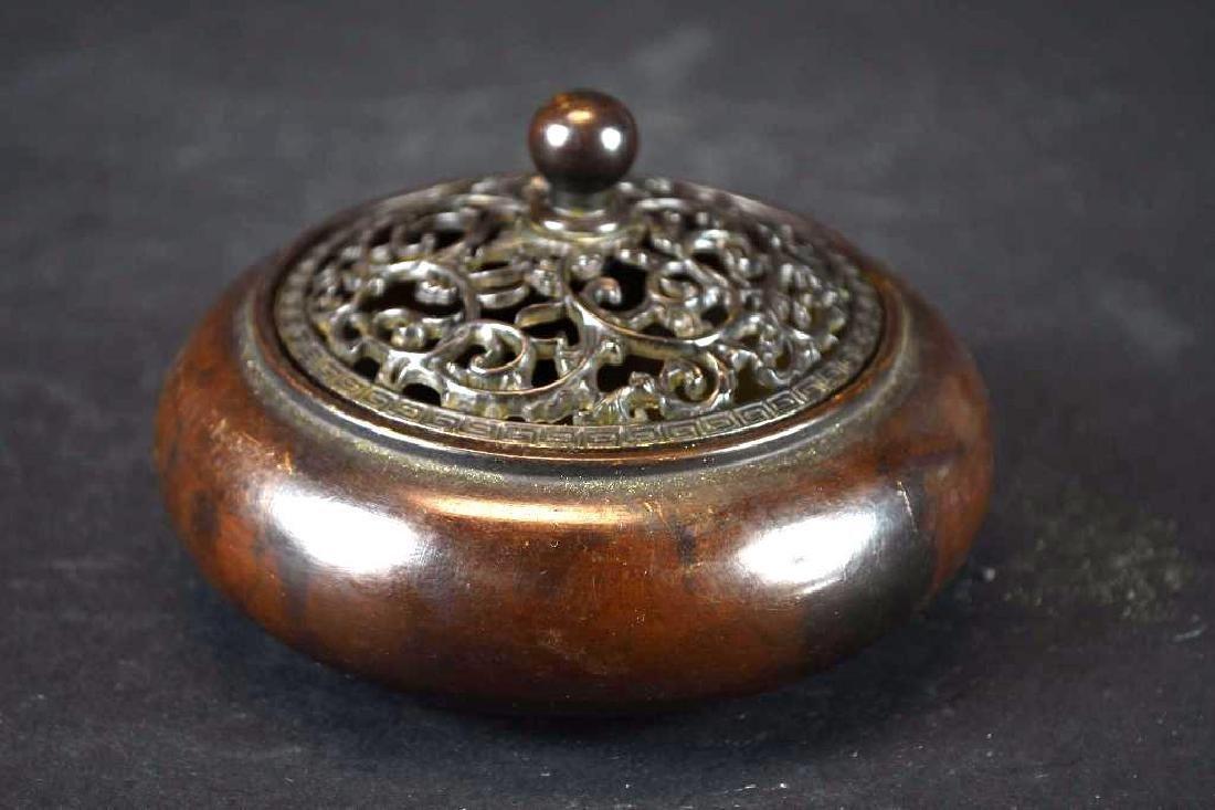 Chinese Bronze Lidded Censer