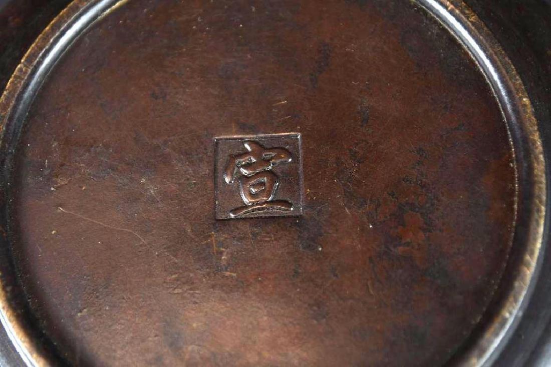 Chinese Bronze Lidded Censer - 9