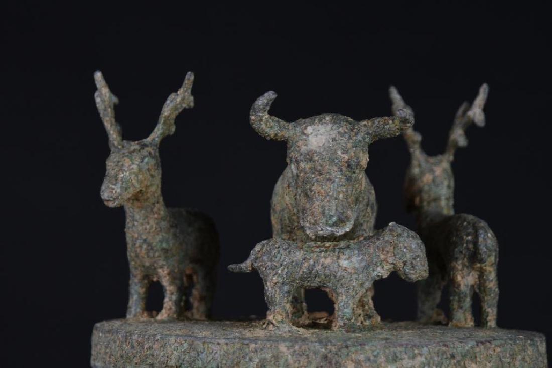 Chinese Bronze Lidded Tripod Censer - 5