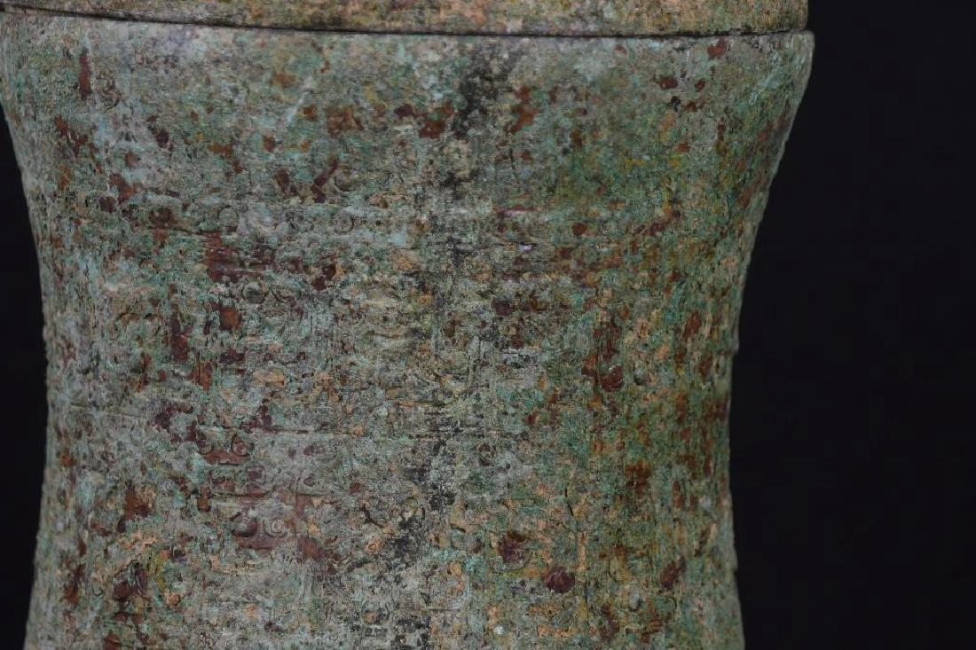 Chinese Bronze Lidded Tripod Censer - 6