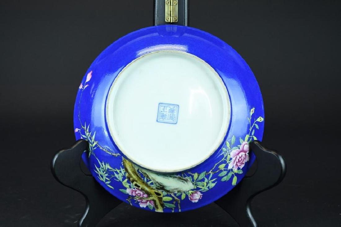 Chinese Cobalt Blue Porcelain Plate - 2