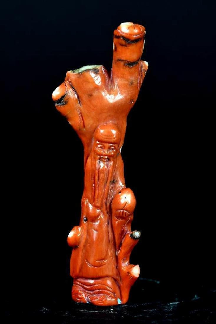 Carved Coral Statue of a Lohan