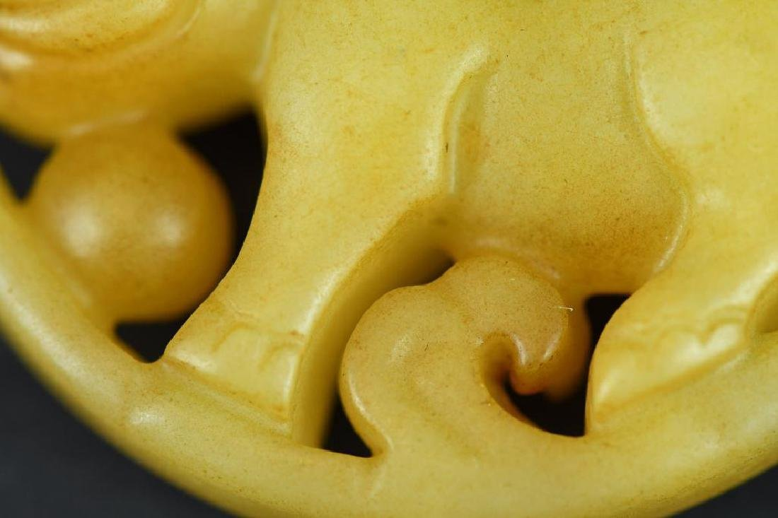 Chinese Carved Jade Pendant - 5