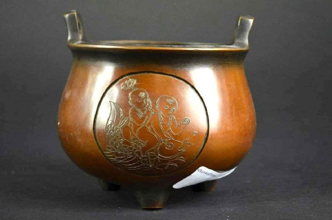 Chinese Bronze Censer - 2
