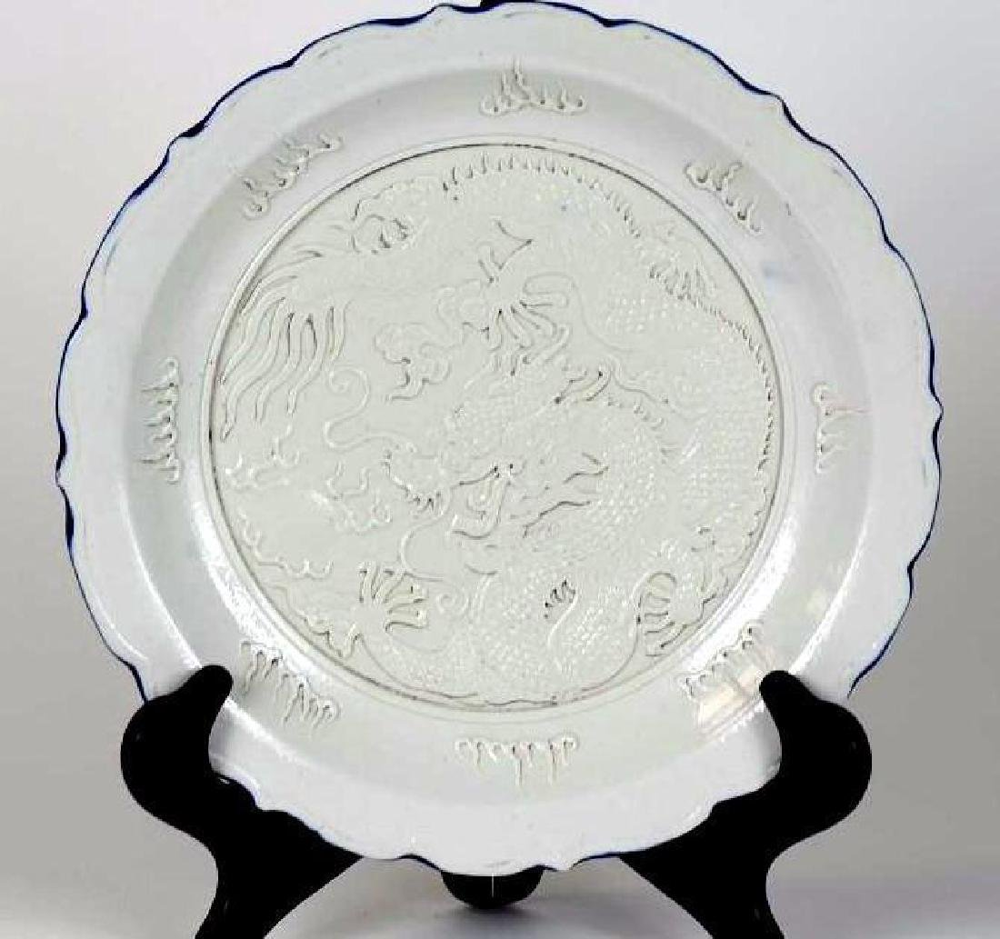 Chinese Porcelain Dragon Charger
