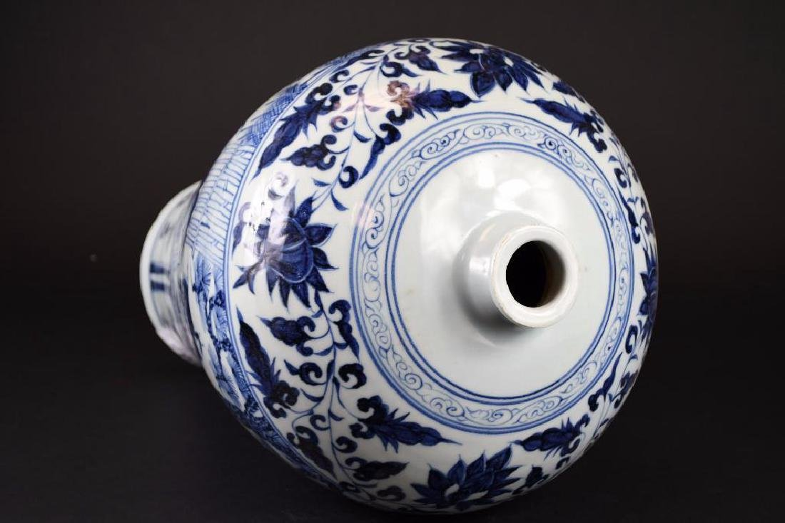 Chinese Blue & White Meiping - 7