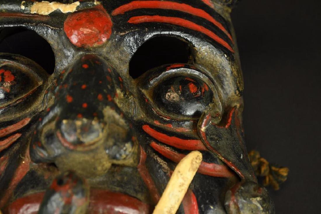 Carved Wood Mask - 3