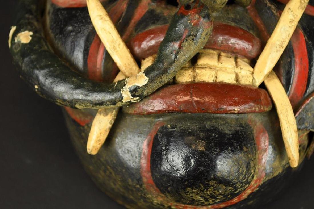 Carved Wood Mask - 4