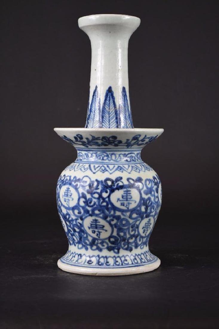 Chinese Blue & White Candle holder - 2