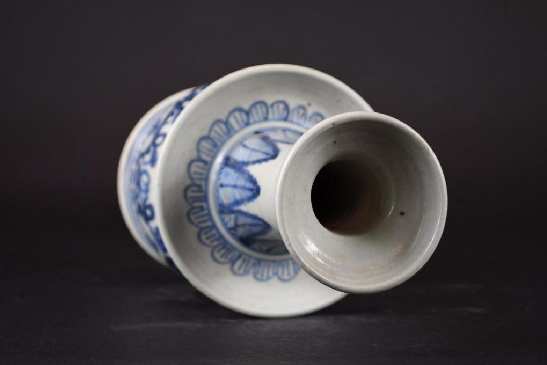 Chinese Blue & White Candle holder - 5
