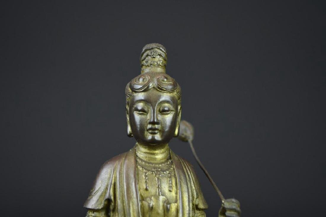 Bronze Seated Guan Yin Riding on Elephant - 5