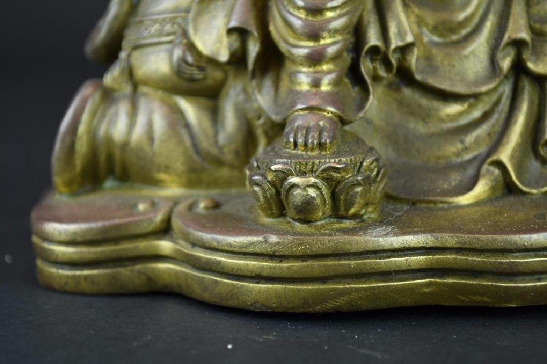 Bronze Seated Guan Yin Riding on Elephant - 8