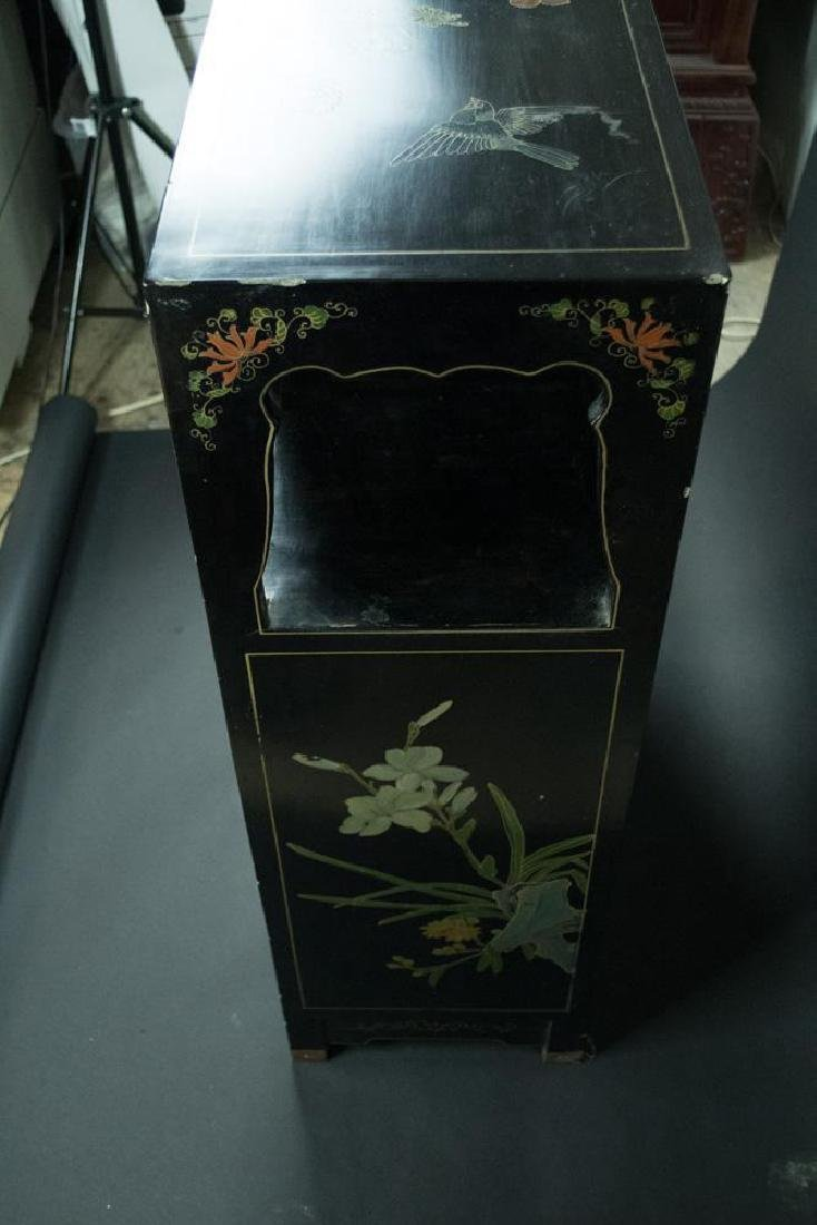 Chinese Soap Stone Applique Cabinet - 2