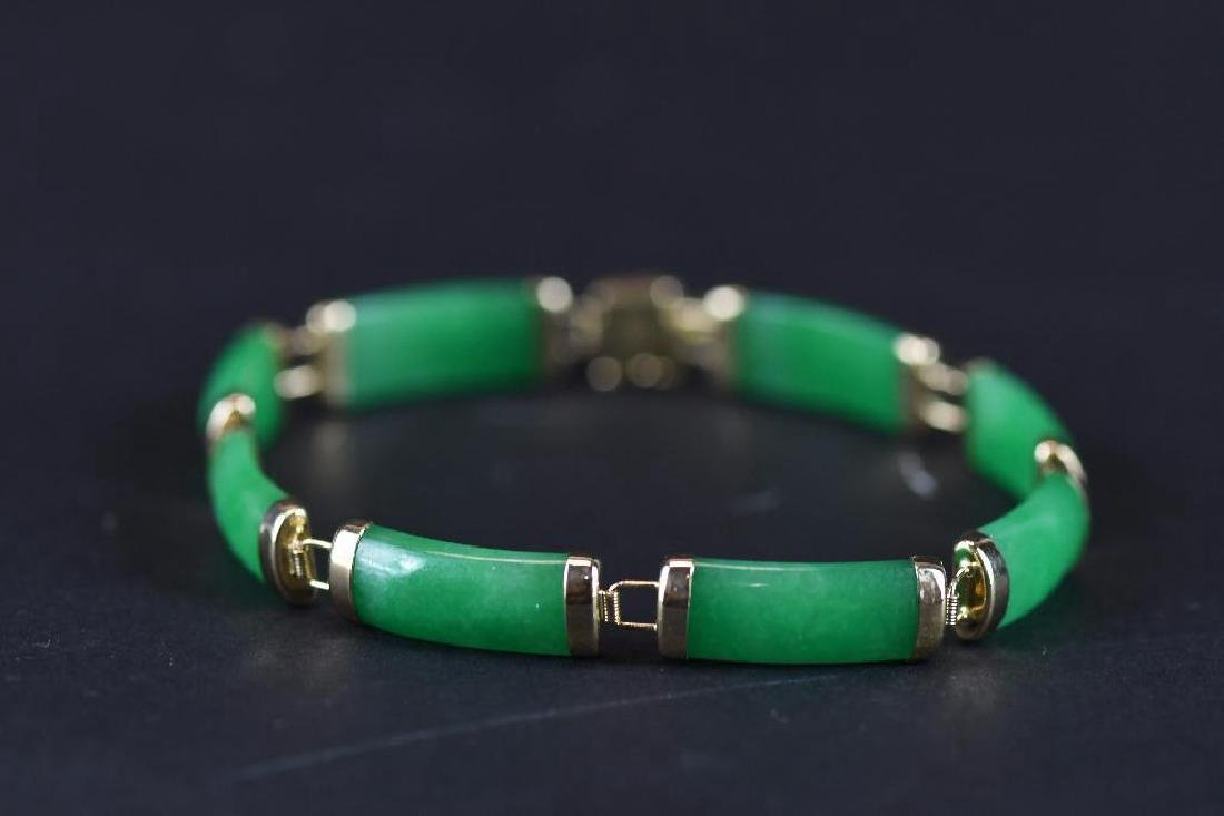 14K Gold & jadeite Bracelt