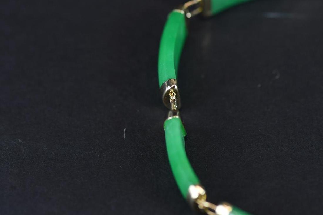 14K Gold & jadeite Bracelt - 3