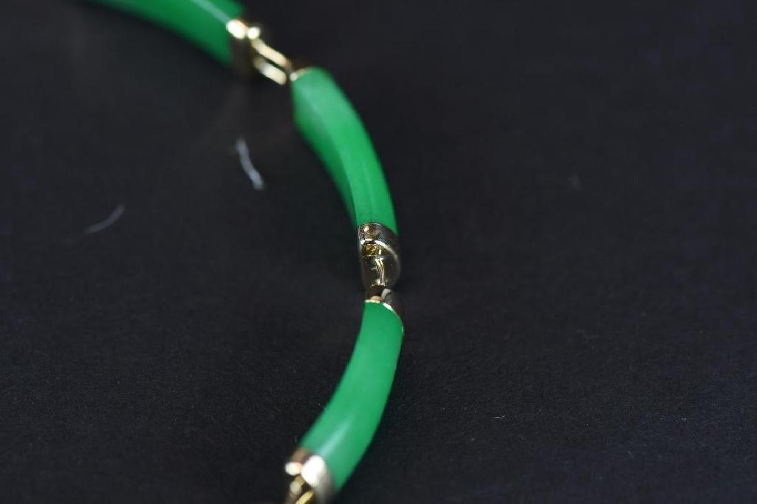 14K Gold & jadeite Bracelt - 5