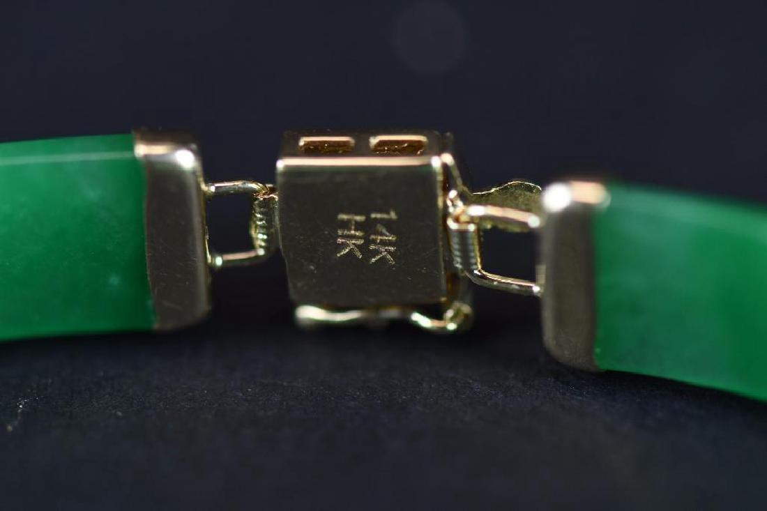 14K Gold & jadeite Bracelt - 7