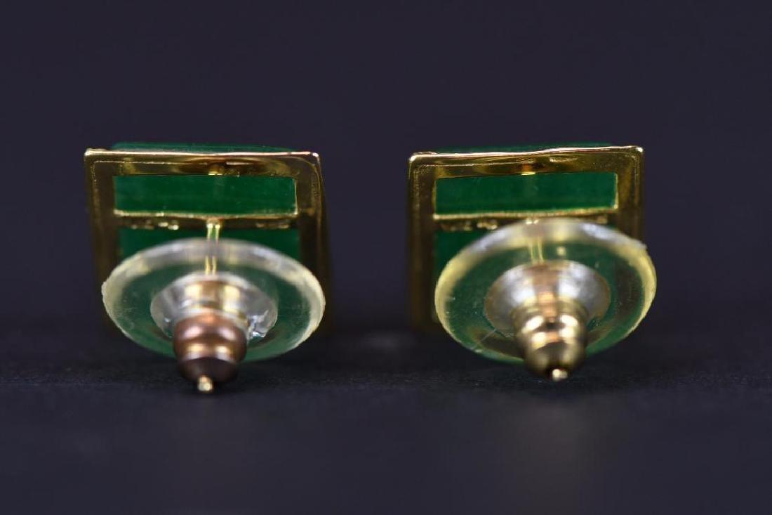 Pair of Gold & jadeite earrings - 3
