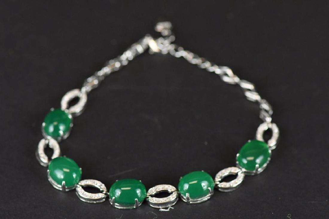 Diamond and Jade Bracelet