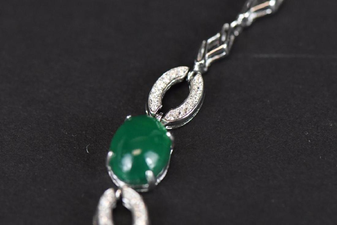 Diamond and Jade Bracelet - 3