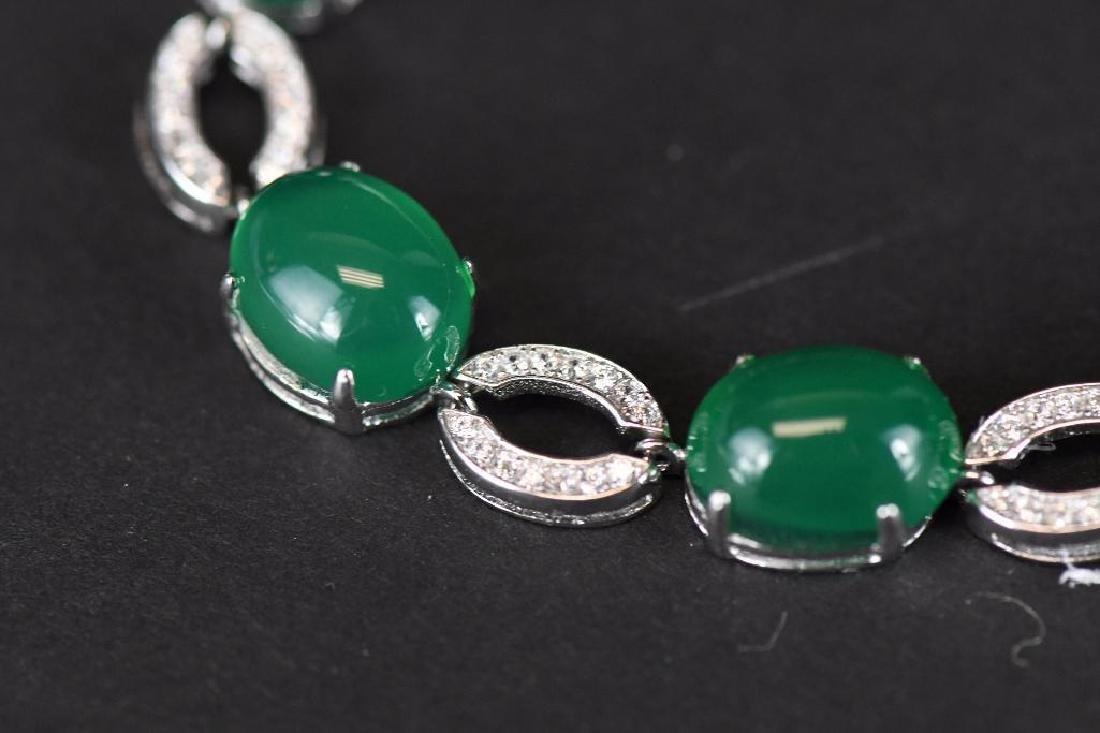 Diamond and Jade Bracelet - 4