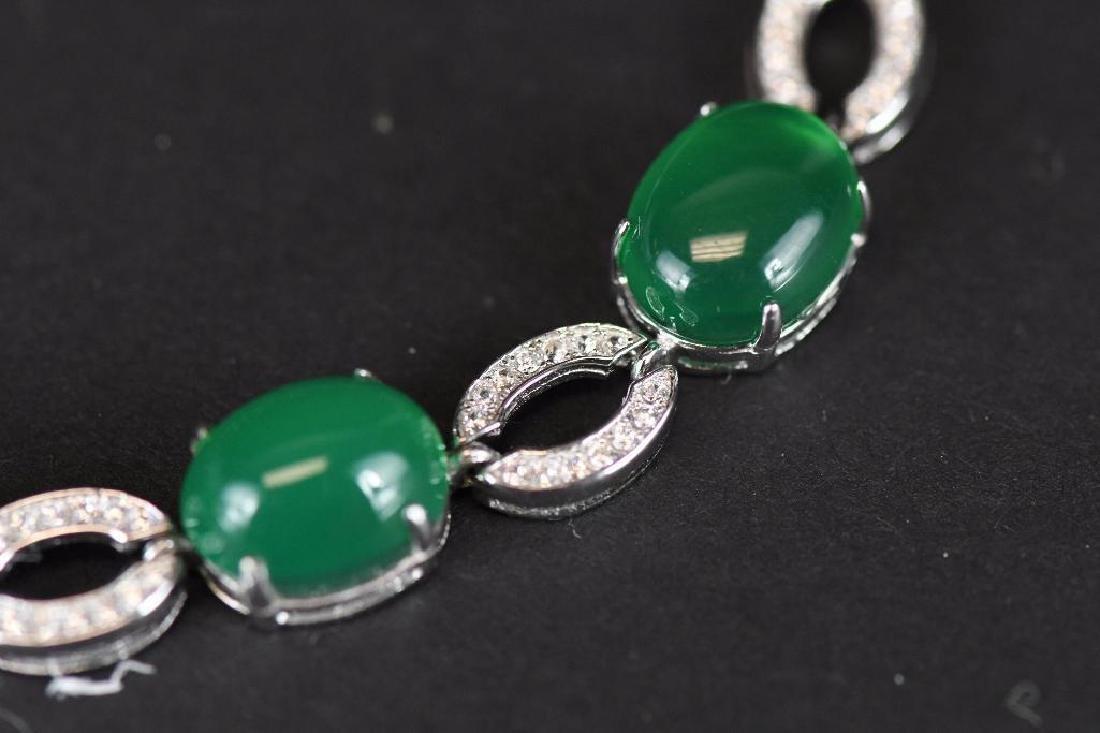 Diamond and Jade Bracelet - 5