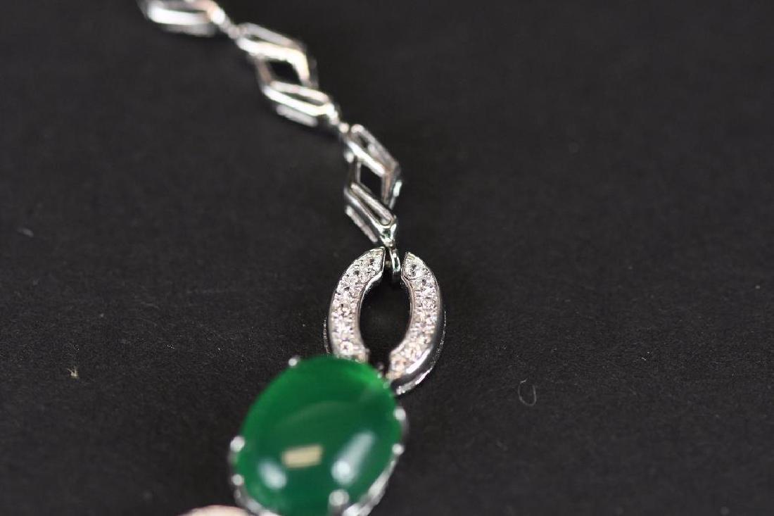 Diamond and Jade Bracelet - 6
