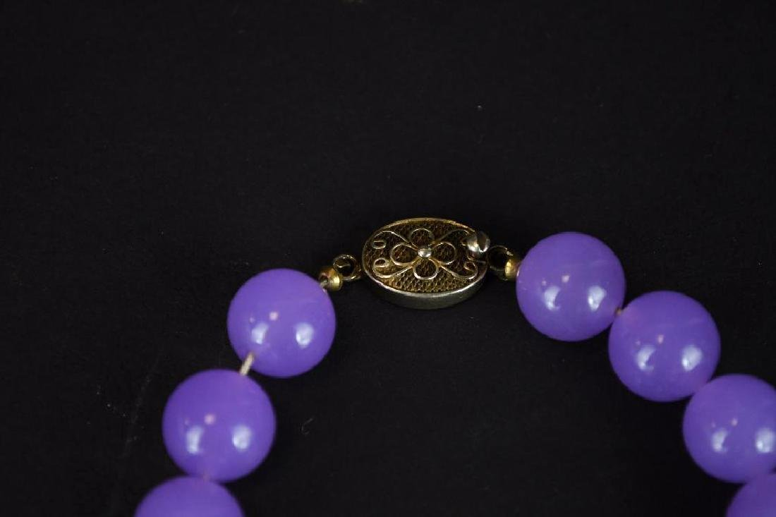 Lavender Jadeite Beaded Necklace - 3