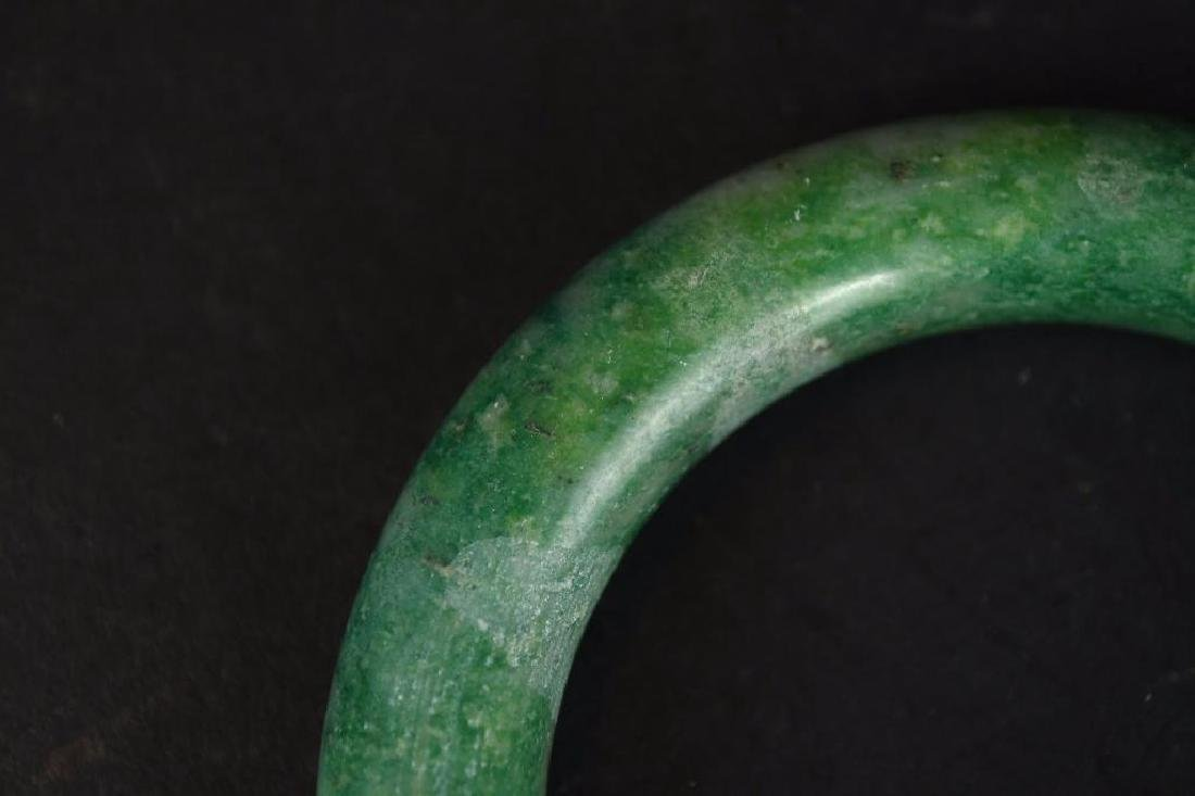 Chinese Apple Green Jadeite Bangle - 2