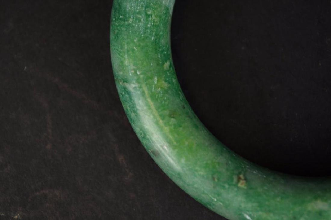 Chinese Apple Green Jadeite Bangle - 5