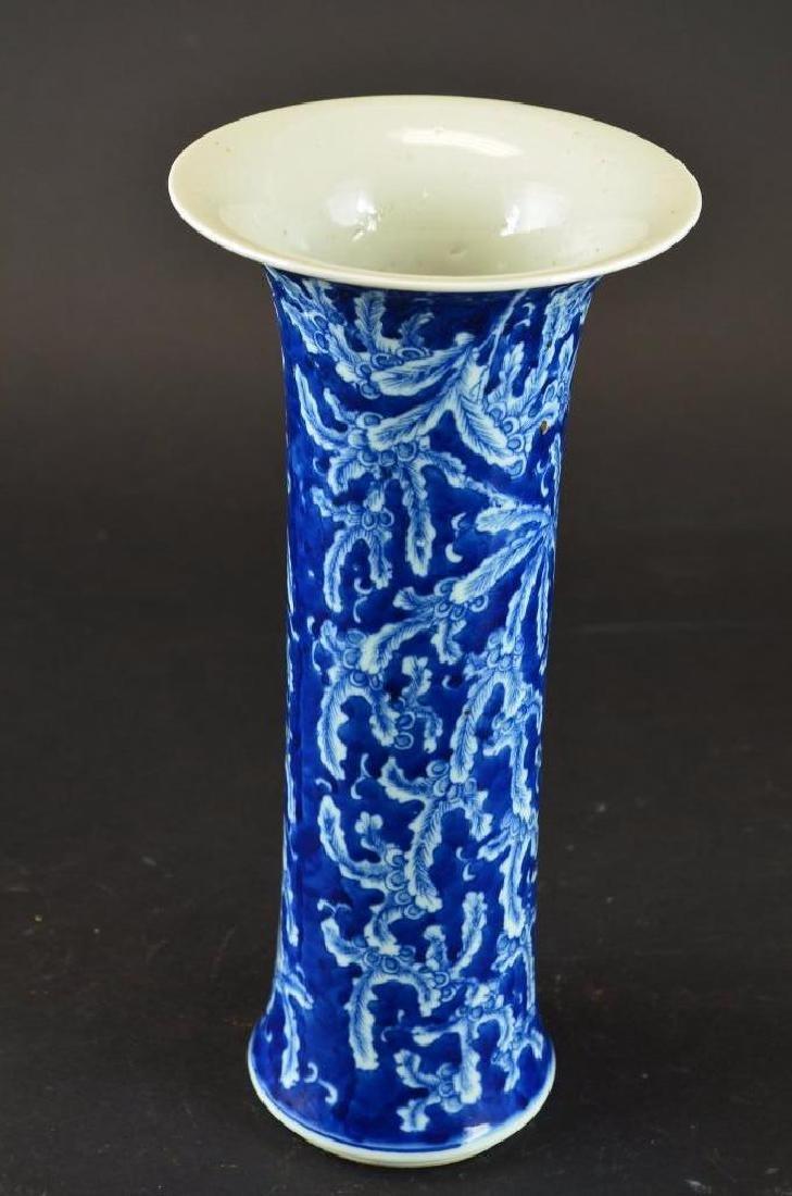 Antique Chinese Cylindrical Form  Porcelain Vase - 2