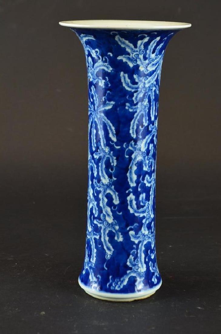 Antique Chinese Cylindrical Form  Porcelain Vase - 3