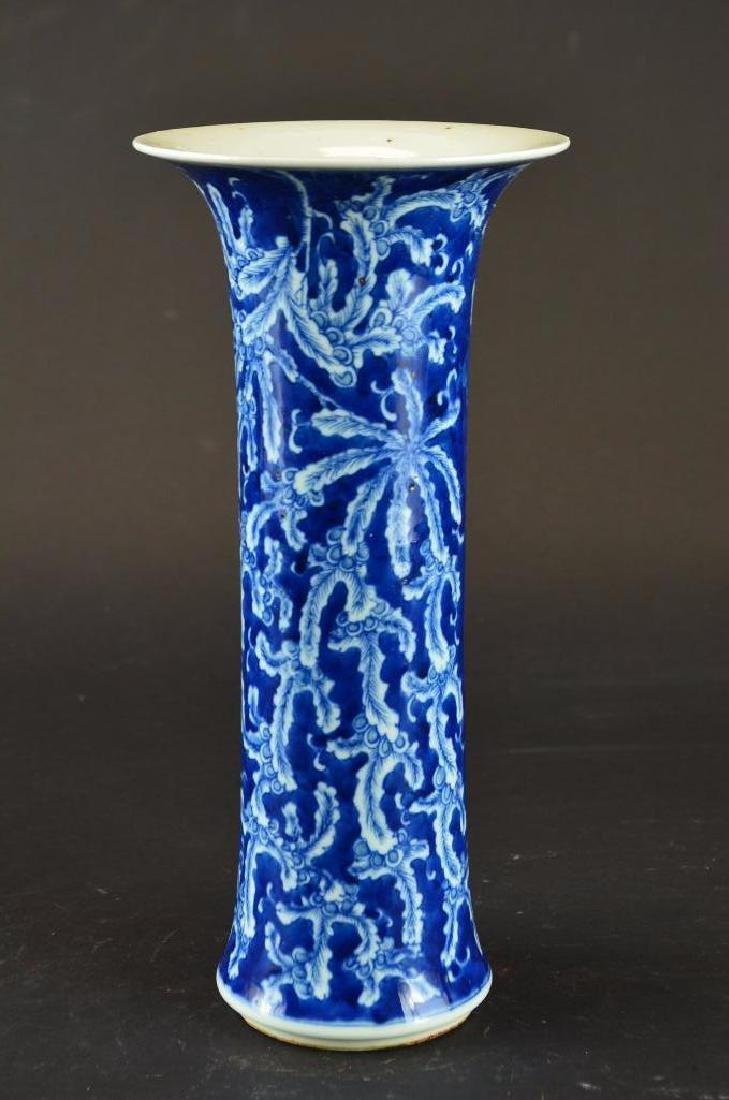 Antique Chinese Cylindrical Form  Porcelain Vase - 4