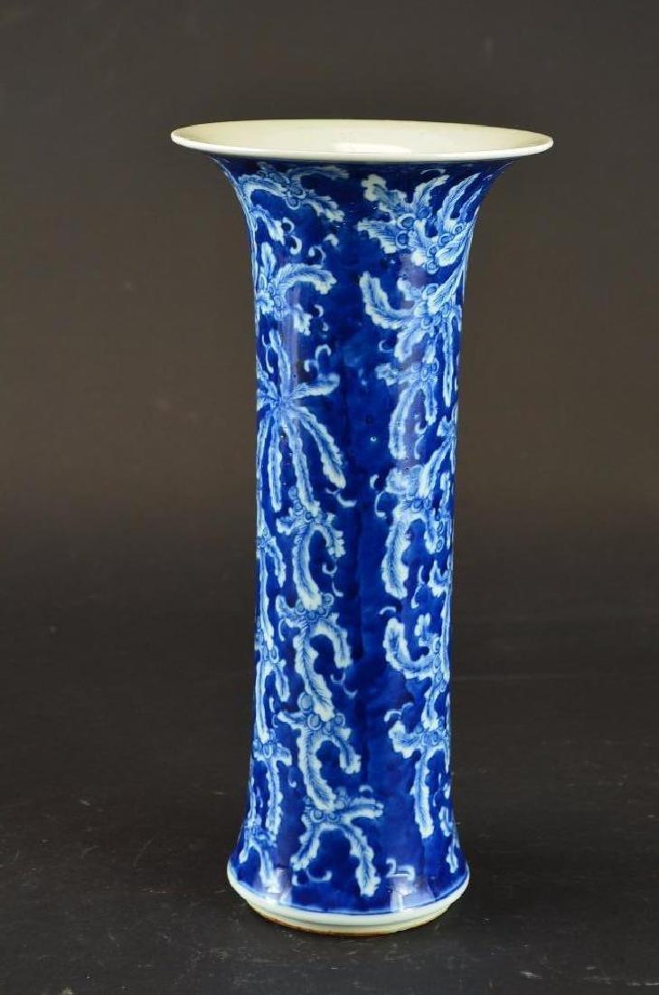 Antique Chinese Cylindrical Form  Porcelain Vase - 5