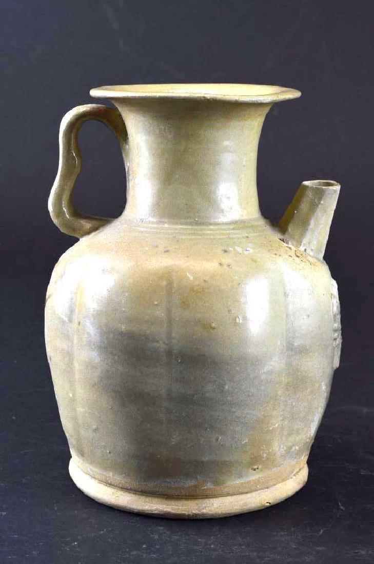 Chinese Celadon Glaze Porcelain Ewer - 2